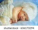 little newborn baby | Shutterstock . vector #636173294