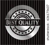 best quality silver shiny emblem | Shutterstock .eps vector #636175637
