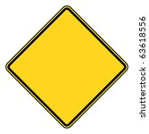 blank diamond shaped road sign... | Shutterstock . vector #63618556