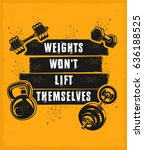 conceptual motivational poster ... | Shutterstock . vector #636188525