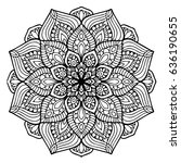 mandalas for coloring book.... | Shutterstock .eps vector #636190655