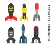 missile rocket set icon vector... | Shutterstock .eps vector #636191831
