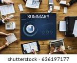 data analysis results summary... | Shutterstock . vector #636197177