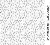 vector seamless pattern. modern ... | Shutterstock .eps vector #636200804