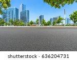 bottom view of modern office... | Shutterstock . vector #636204731