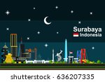 simple flat style illustration... | Shutterstock .eps vector #636207335