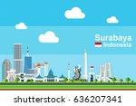 simple flat style illustration... | Shutterstock .eps vector #636207341