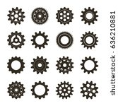 set of gears. vector... | Shutterstock .eps vector #636210881