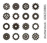 set of gears. vector... | Shutterstock .eps vector #636210881