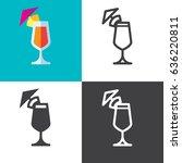 maitai cocktail   Shutterstock .eps vector #636220811