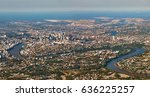 aerial panoramic view of... | Shutterstock . vector #636225257