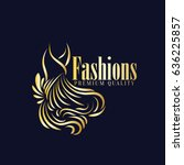 fashions boutique logo vector | Shutterstock .eps vector #636225857