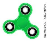 Hand Spinner Flat Vector...