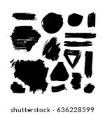 brush strokes isolated. ink... | Shutterstock .eps vector #636228599
