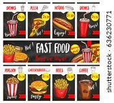 fast food restaurant vector... | Shutterstock .eps vector #636230771