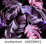 seamless tropical flower  plant ... | Shutterstock . vector #636238421