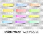 sticky reminder notes realistic ... | Shutterstock .eps vector #636240011