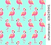 beautiful seamless pattern with ... | Shutterstock . vector #636245441