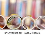close up edge of colorful... | Shutterstock . vector #636245531