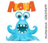 Octopus Alien Monster Emoji...