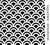 traditional black and white... | Shutterstock .eps vector #636247091