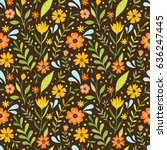 summer floral pattern. seamless ...