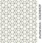 geometric grid seamless vector... | Shutterstock .eps vector #636248429