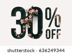 brilliant promotion sale poster ... | Shutterstock . vector #636249344