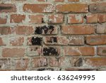 The Red Brick Wall With Ink Blot