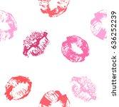 kiss imprint. seamless... | Shutterstock .eps vector #636252239