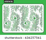 stencil. laser cut pattern of... | Shutterstock .eps vector #636257561