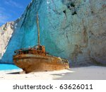 Ship Wreck On Navagio Beach ...