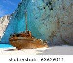 Ship Wreck On Navagio Beach ...
