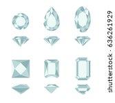 diamonds cut simple... | Shutterstock .eps vector #636261929
