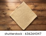 cloth napkin on wooden... | Shutterstock . vector #636264347