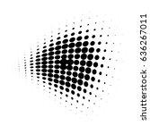 round halftone dot pattern ... | Shutterstock .eps vector #636267011