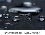 water drops on waterproof... | Shutterstock . vector #636270464