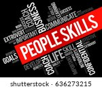 people skills word cloud... | Shutterstock . vector #636273215