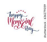 vector happy memorial day card. ... | Shutterstock .eps vector #636279359