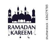 traditional ramadan kareem art... | Shutterstock .eps vector #636279785