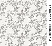 doodle seamless pattern with... | Shutterstock . vector #636288581