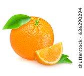 Fresh Orange Isolated On A...