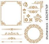 floral vector set. floral... | Shutterstock .eps vector #636295769
