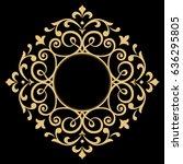 decorative line art frames for... | Shutterstock .eps vector #636295805