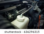 close up of car engine  coolant ... | Shutterstock . vector #636296315