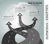 road way infographic template 3 ... | Shutterstock .eps vector #636297851