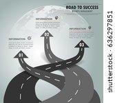 road way infographic template 3 ... | Shutterstock .eps vector #636297851