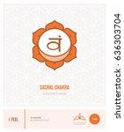 sacral chakra svadhisthana ... | Shutterstock .eps vector #636303704
