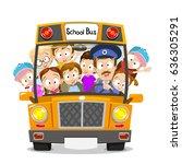 vector illustration of happy... | Shutterstock .eps vector #636305291