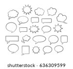 vector comic speech bubbles... | Shutterstock .eps vector #636309599